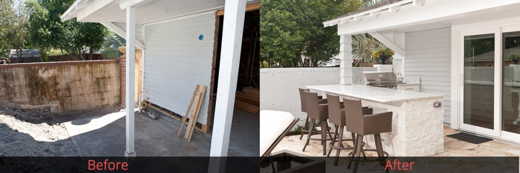 Outdoor Kitchen Renovation Before & After - Nelson
